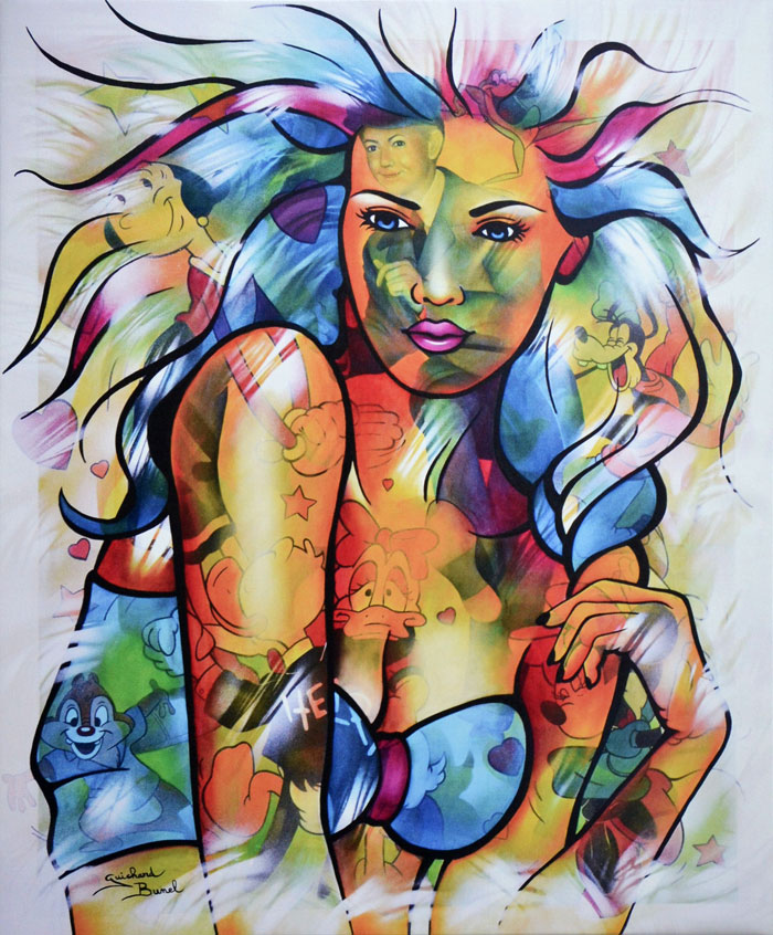 """Impression sur toile """"Dance with me"""" de Guichard Bunel"""