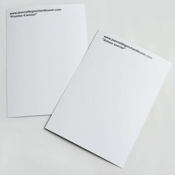 dos cartes postales jeannette guichard bunel