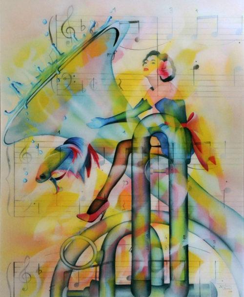 Chevauchée fantaisiste Plexiglass Alu Dibon Guichard BUNEL