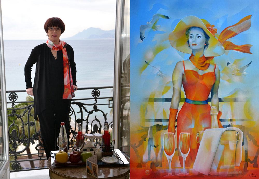 Au balcon du Carlton de Cannes pendant le festival