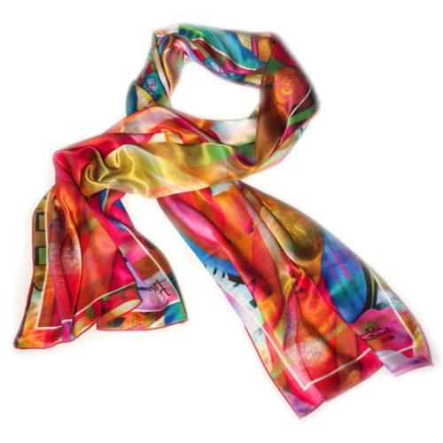 foulard d'art en soie guichard bunel