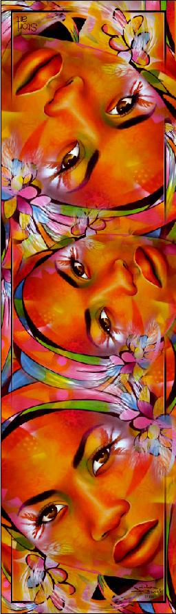 """Composition Foulard """"Amour Sorcier"""""""