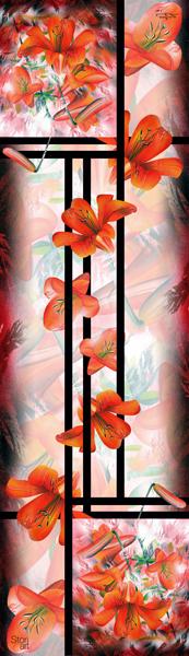 Composition du Foulard Fleur de Lys
