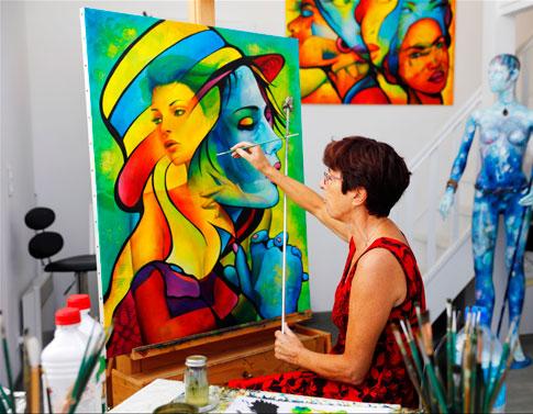 peiture huile sur toile Guichard Bunel Atelier