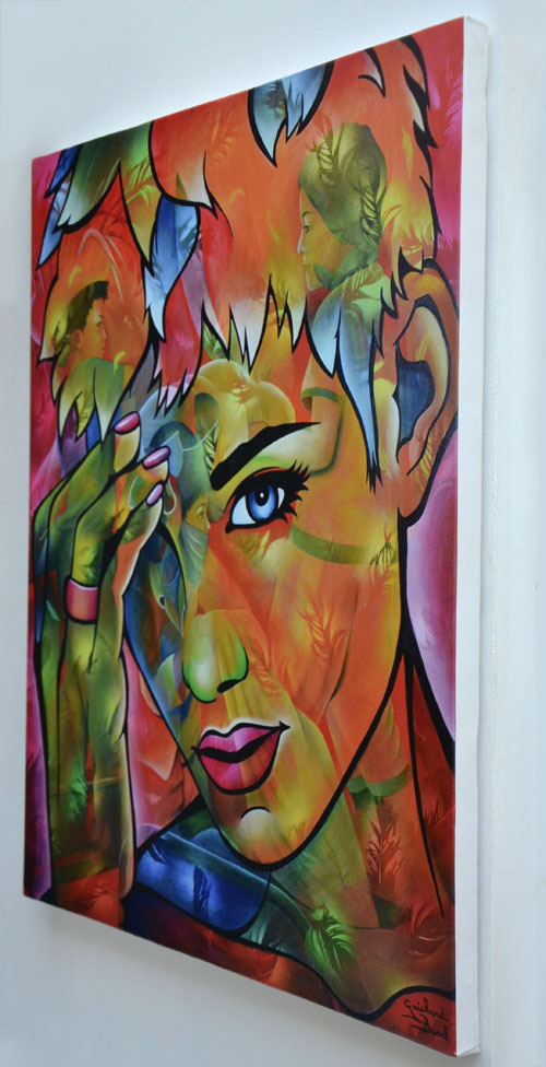 "Reproduction sur Toile ""Oh My God"" de Guichard Bunel"