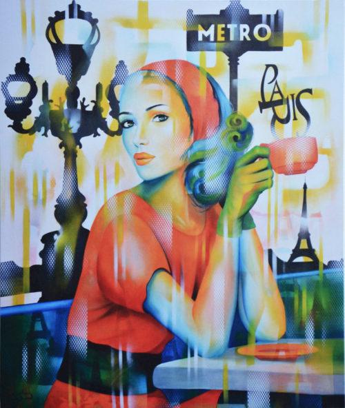 """Impression sur Toile """"Ca c'est Paris"""" de Guichard Bunel"""