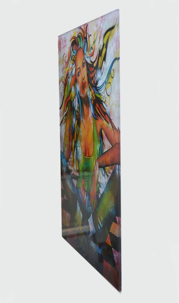 """Plexiglass """"Comme un petit Coquelicot"""" de Guichard Bunel"""