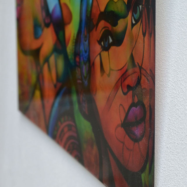 reproduction d'art en plexiglass de guichard bunel