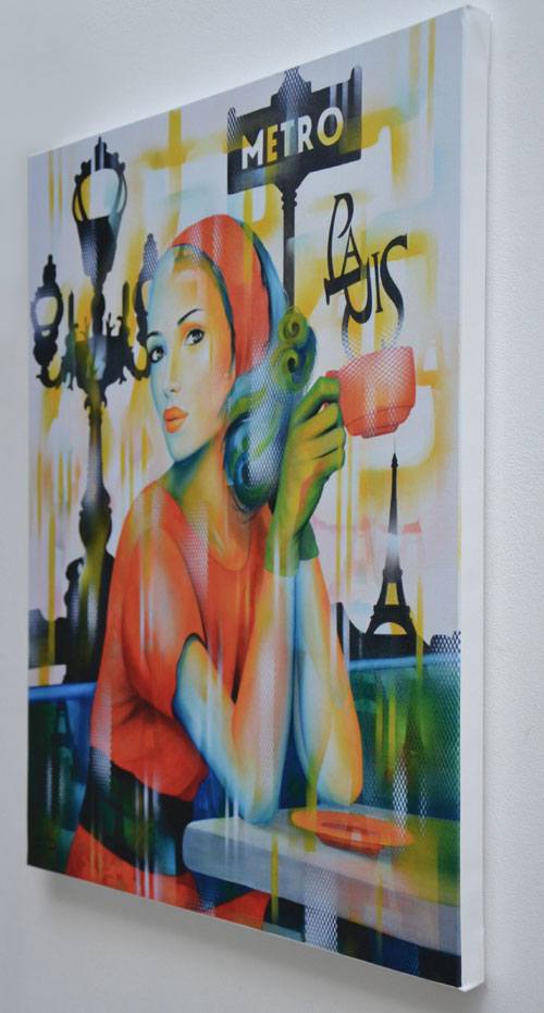 "Giclee ""Ca c'est Paris"" impression sur Toile"