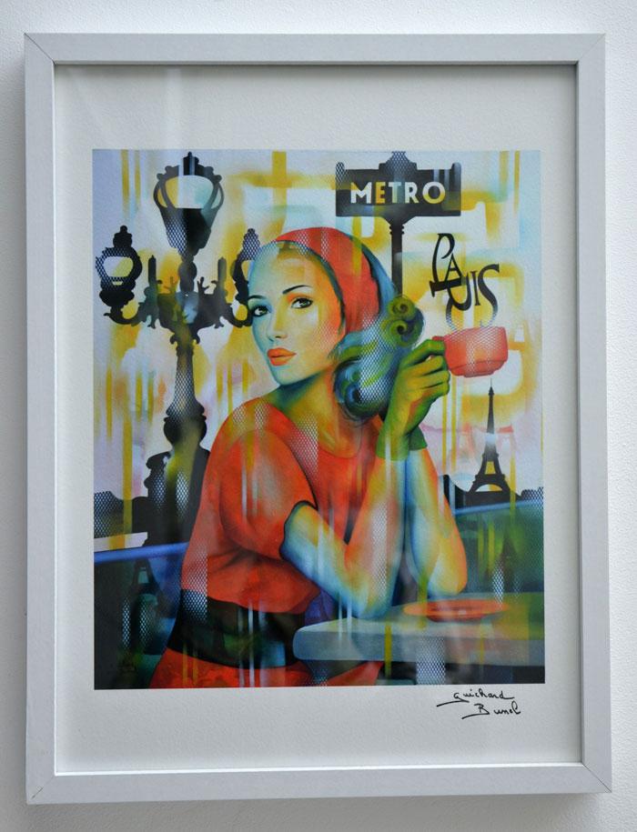 """Tirage d'art papier de l'oeuvre """"Ca c'est Paris"""" de Guichard Bunel"""