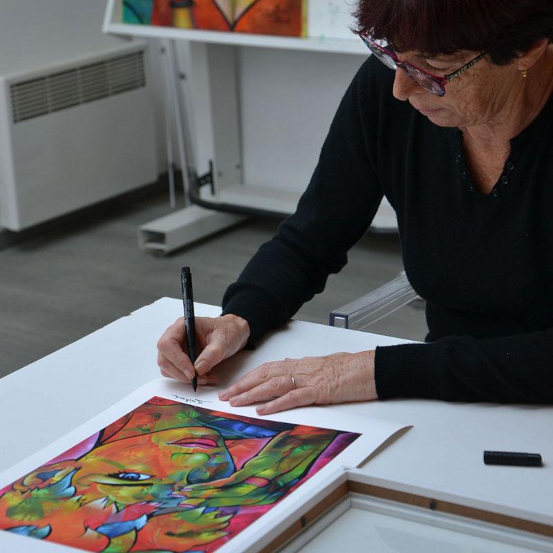 Signature de l'artiste Guichard Bunel