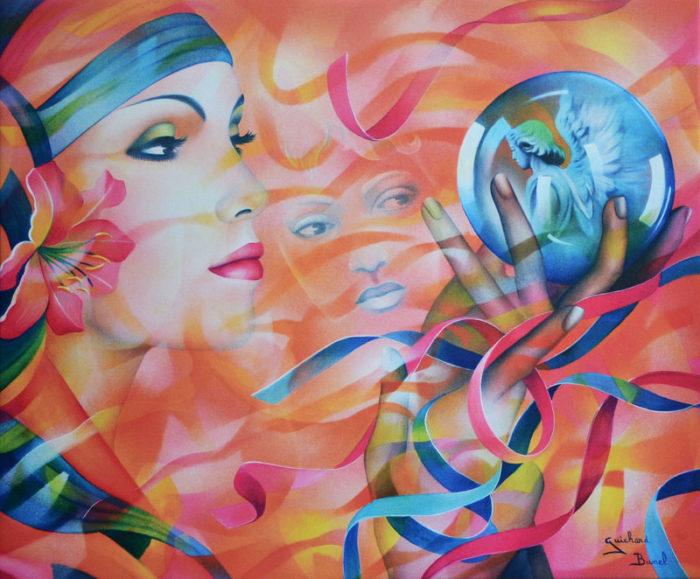 """Impression sur toile """"Heureux présage"""" de Guichard Bunel"""
