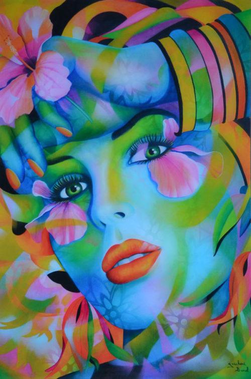 """Plexiglass """"A fleur de peau"""" de Guichard Bunel"""
