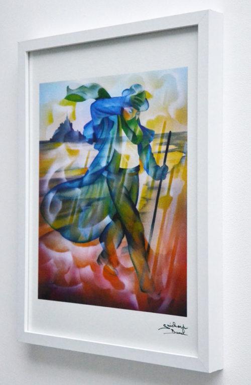 """Tirage d'art papier """"Le pèlerin"""" de Guichard Bunel"""