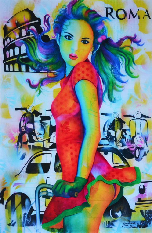 """Plexiglass """"Viva la vida"""" de Guichard Bunel"""