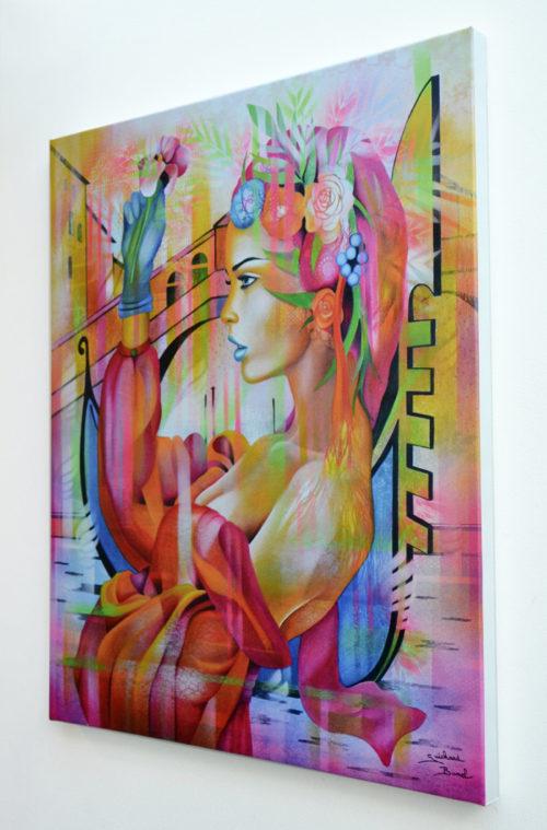 Reproduction de la toile Dolce Vita par Jeannette Guichard Bunel
