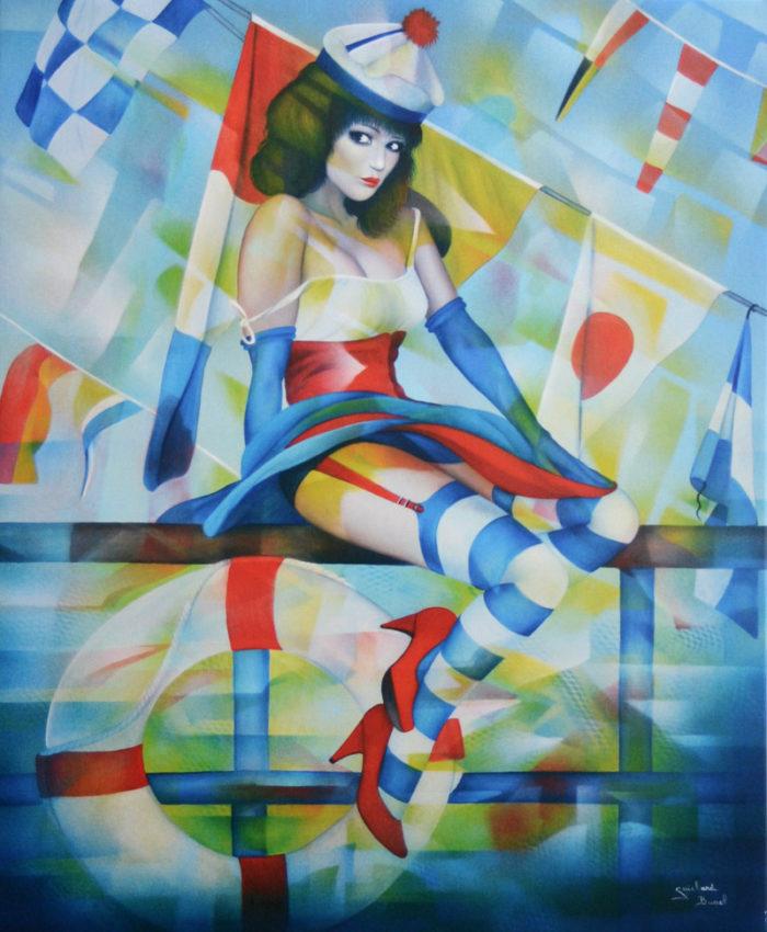 Reproduction sur toile Fete de la mer de l'Artiste Guichard Bunel