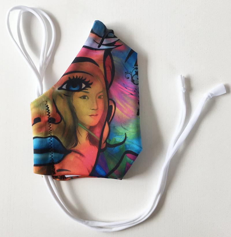 """Masque en tissu """"Les muses"""" de Guichard Bunel"""